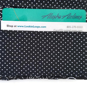 Black and White Swirl Wallet card slots