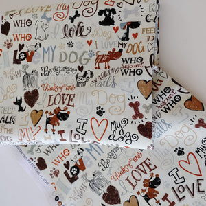 Love my Dog Fabric-by-the-yard