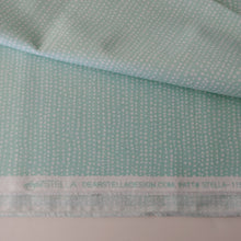 Load image into Gallery viewer, White dots on Aqua fabric Mfr Name