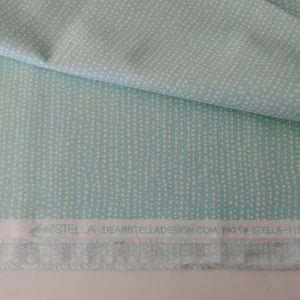 White dots on Aqua fabric Mfr Name