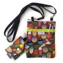 Load image into Gallery viewer, Acorn Print Fabric Crossbody Bag with (optional) Grab & Go