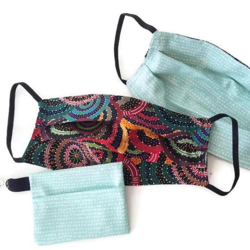 Aussie Swirls Face Mask with (optional) Clean & Carry Pouch