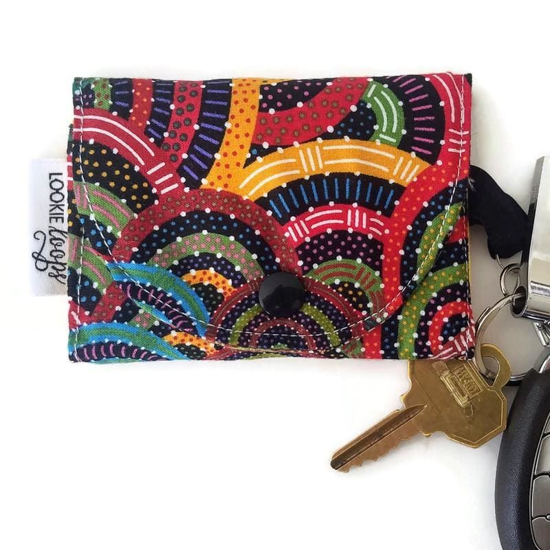 Aussie Swirls grab and go wallet taxi wallet lightweight fabric wallet closed view