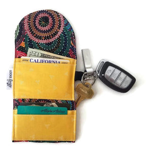 Aussie Swirls grab and go wallet taxi wallet lightweight fabric wallet open view