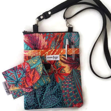 Load image into Gallery viewer, Coleus Leaves Fabric Crossbody Bag with (optional) Grab & Go
