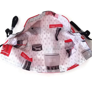 Doggie Print Face Mask with (optional) Clean & Carry Pouch -