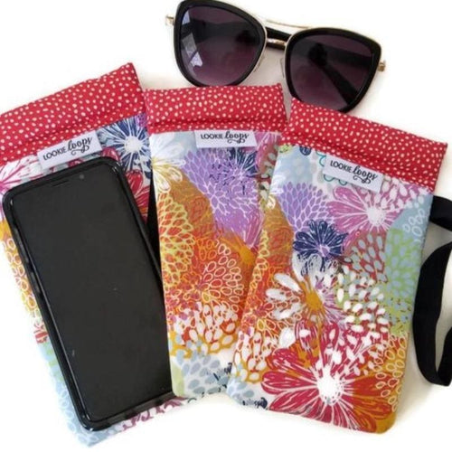 Doodle Blooms Cell Phone or Sunglass Case - Cell Phone /