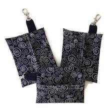 Load image into Gallery viewer, Face Mask Clean & Carry Pouch (various patterns) - B&W Swirl