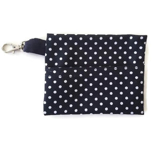Face Mask Clean & Carry Pouch (various patterns) - Dots on