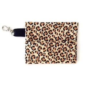 Face Mask Clean & Carry Pouch (various patterns) - Leopard