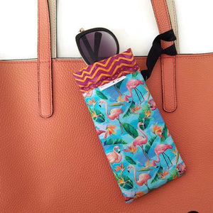 Flamingos Cell Phone or Sunglass Case - Cell Phone /