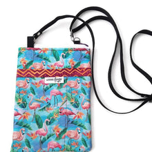 Load image into Gallery viewer, Flamingos Fabric Crossbody Bag - Crossbody Bags