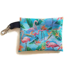 Load image into Gallery viewer, Flamingos Face Mask with (optional) Clean & Carry Pouch -