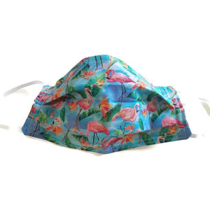Flamingos Face Mask with (optional) Clean & Carry Pouch -