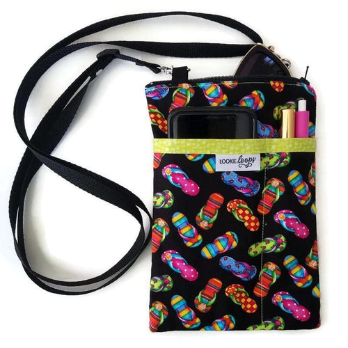 Flip Flops Fabric Crossbody Bag - Crossbody Bags