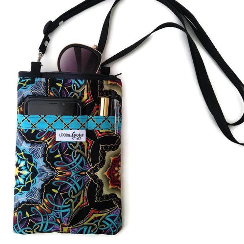 Grand Illusion Fabric Crossbody Bag - Crossbody Bags