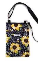 Load image into Gallery viewer, Bee Happy Fabric Crossbody Bag