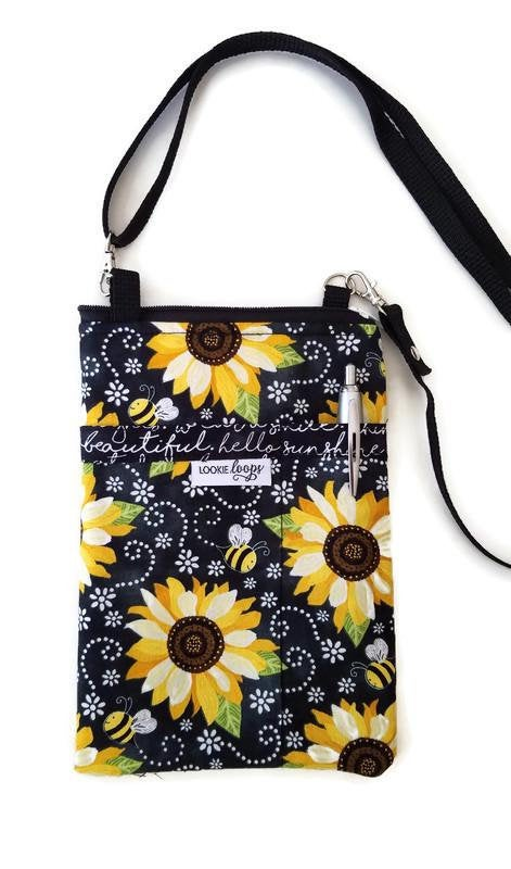 Bee Happy Fabric Crossbody Bag