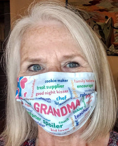 Shout Out to GRANDMAS Custom Face Mask