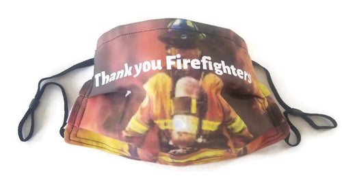 Thank You Firefighters Custom Face Mask