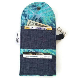 Teal Batik Grab & Go Wallet