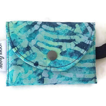 Load image into Gallery viewer, Teal Batik Grab & Go Wallet