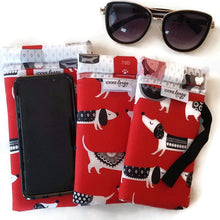 Load image into Gallery viewer, Red Dog Cell Phone or Sunglass Case