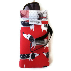 Red Dog Cell Phone or Sunglass Case