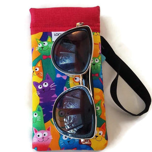 Happy Cats Cell Phone or Sunglass Case