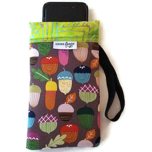 Playful Acorn Cell Phone or Sunglass Case