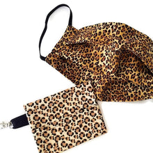 Load image into Gallery viewer, Leopard Face Mask with Optional Carrying Pouch - Face Masks