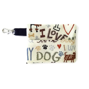 Love My Dog Face Mask with (optional) Clean & Carry Pouch -