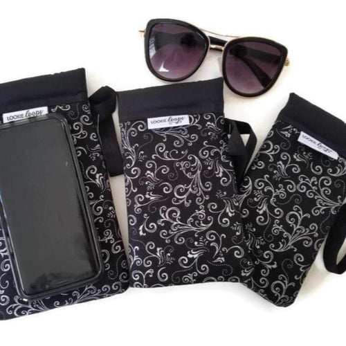 Silver Scroll Cell Phone or Sunglass Case - Cell Phone /