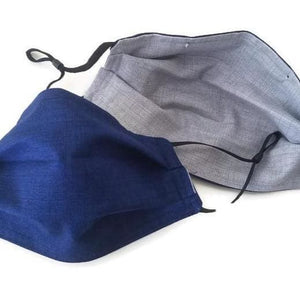 Solid Navy Face Mask with (optional) Clean & Carry Pouch -