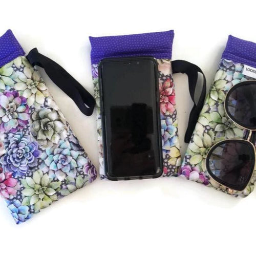 Succulents Cell Phone or Sunglass Case - Cell Phone /