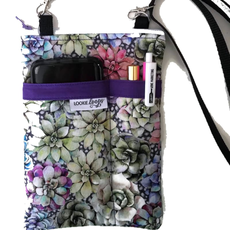 Succulents Fabric Crossbody Bag - Crossbody Bags