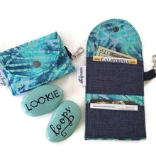 Load image into Gallery viewer, Teal Batik Fabric Crossbody Bag with (optional) Grab & Go