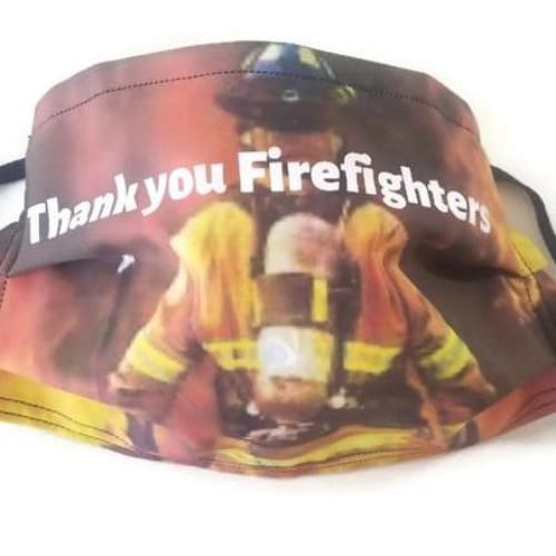 Thank You Firefighters Custom Face Mask - Face Masks