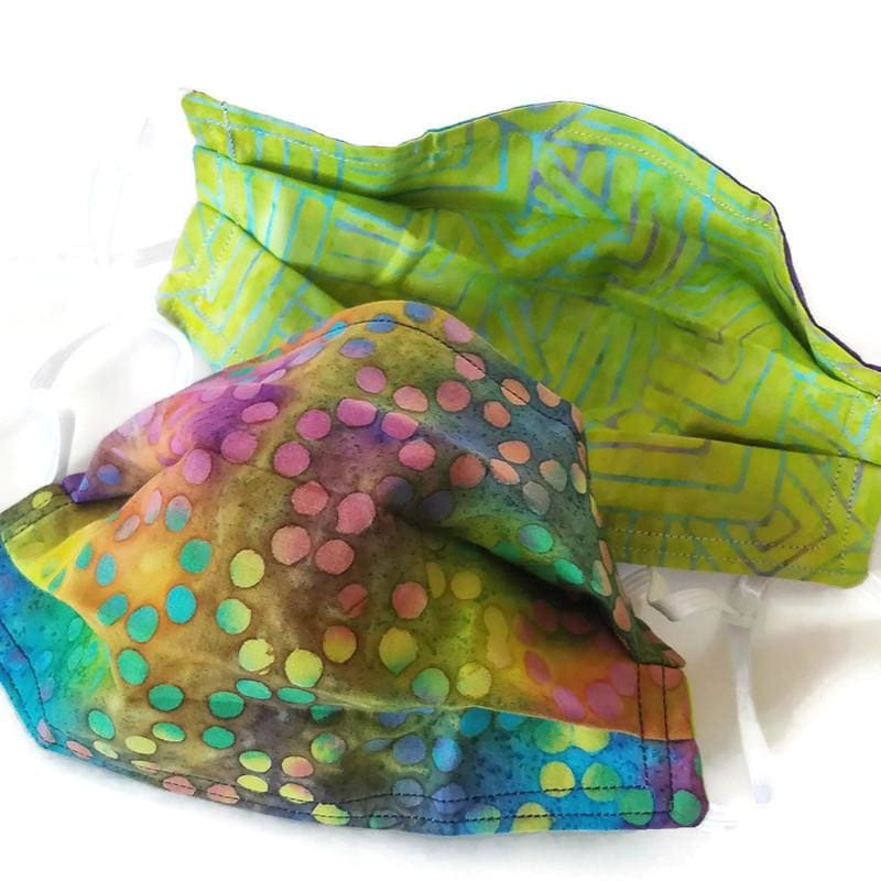 Tie-Dye Dots Face Mask with (optional) Clean & Carry Pouch -