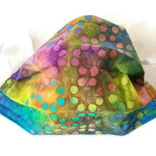 Load image into Gallery viewer, Tie-Dye Dots Face Mask with (optional) Clean & Carry Pouch -