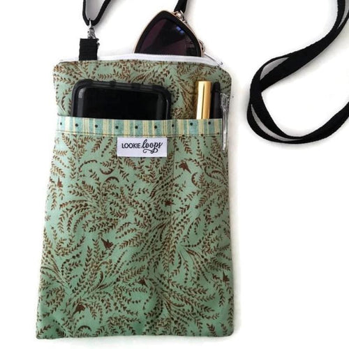 Toile Fabric Crossbody Bag - Crossbody Bags
