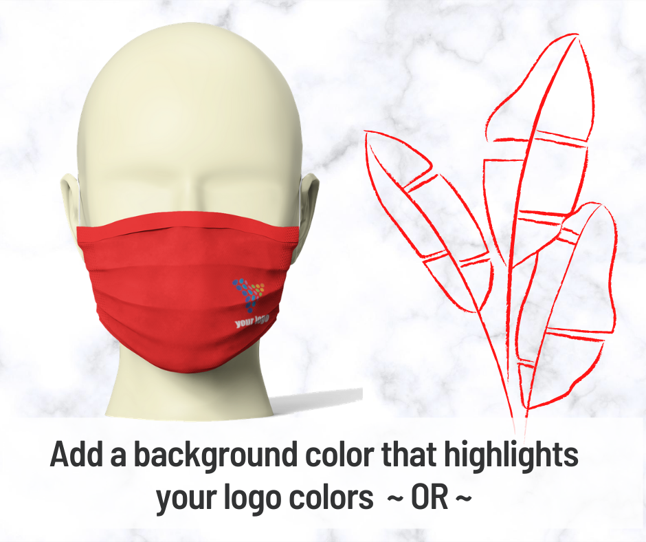 Mask with background color