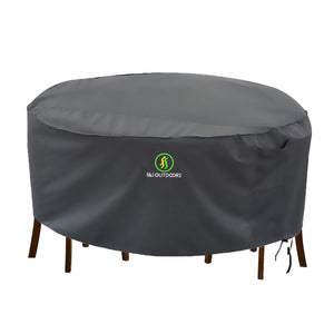 Classic Water Resistant Round Patio Table and Chairs Cover Set