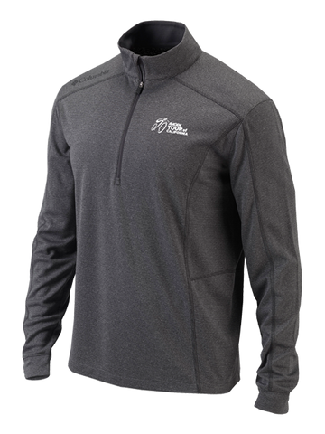 Amgen Tour of California Primary Logo Quarter Zip Pullover - Heather Grey