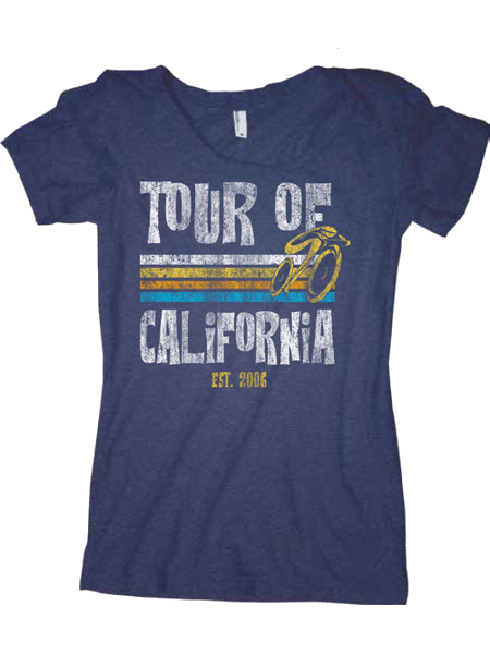 Amgen Tour of California Women's Triblend Scoop T-Shirt
