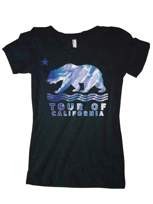Amgen Tour of California Women's Blue Wave Bear T-Shirt