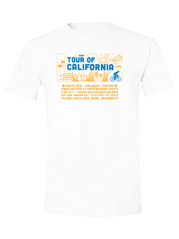Amgen Tour of California Breakaway from Cancer T-Shirt - White