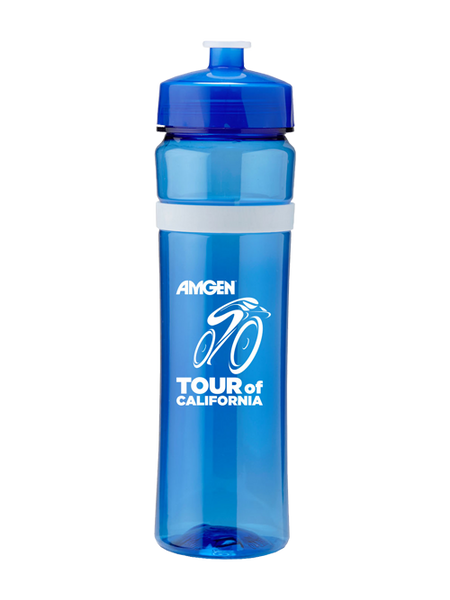 Amgen Tour of California Stacked Logo Water Bottle - Blue