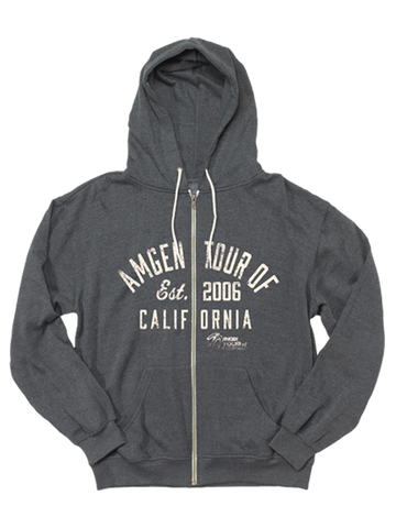 Amgen Tour of California Retro Wordmark Full Zip Hoodie