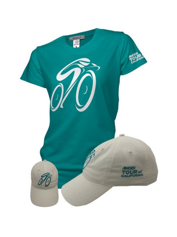 Amgen Tour of California Women's Hat & T-Shirt Combo